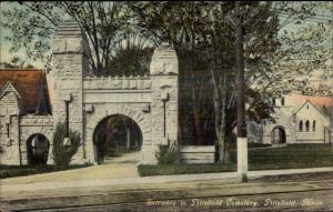 Pittsfield MA Entrance to Cemetery c1910 Postcard