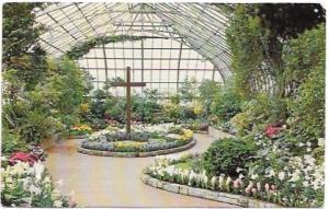 US Cincinnati, Ohio, Easter Display - Eden Park Conservatory.  Lots of Flowers.