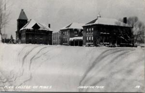 Houghton MI~Michigan College of Mines Campus Deep in Snow~Hillside~1950s RPPC