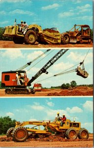 National School of Heavy Equipment Charlotte North Carolina Vintage Postcard