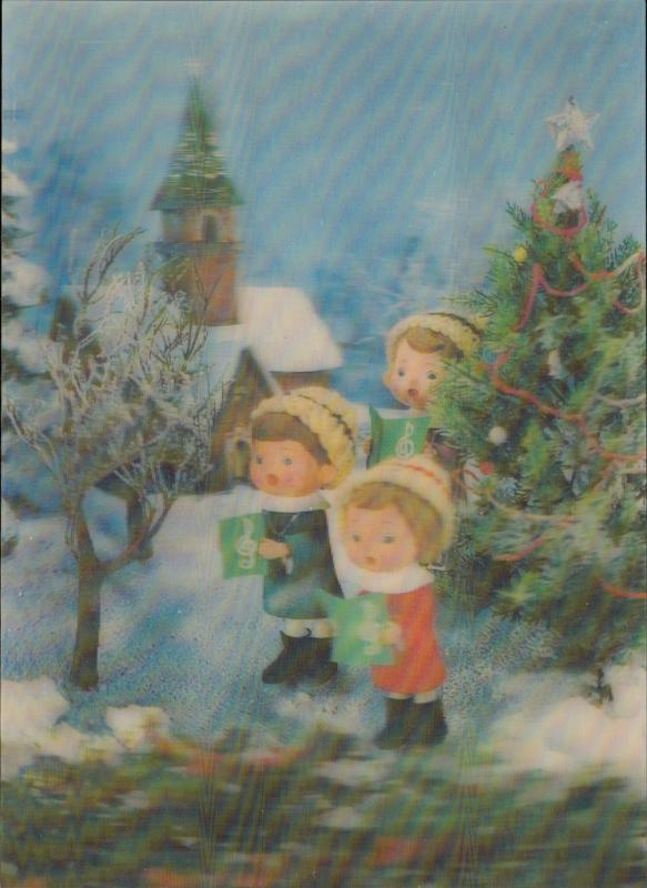 Merry Christmas carols christmas tree lenticular 3 D