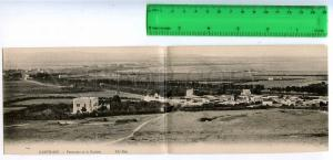 227181 TUNIS CARTHAGE Goulette Vintage folding postcard
