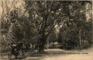 CPA AK INDOCHINA Saigon Un coin du Jardin de la Ville VIETNAM (957189)