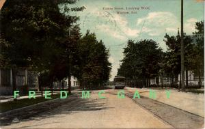 1909 Warsaw IN PC: Center Street Looking West