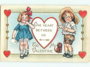 Pre-Linen Valentine DOG WATCHES GIRL AND BOY AB2752