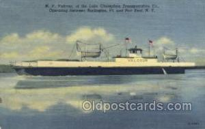 MV Valcour Ship Postcard Postcards  MV Valcour