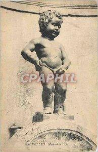 Old Postcard Brussels Manneken Pis