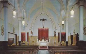 Interior,  Saint Anthony Church,  Fredericton,  New Brunswick,  Canada,  40-60s