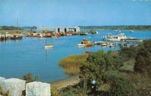 Osterville Massachusetts view of Crosby Boat Yards vintage pc ZA440496