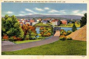 VT - Brattleboro. Steel Bridge over the Connecticut River