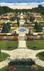 Rose Garden, Woodward Park Tulsa OK Writing On Back