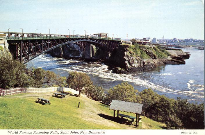 World Famous Reversing Falls - Saint John NB, New Brunswick, Canada