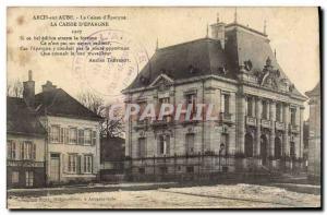 Old Postcard Arcis sur Aube Bank Caisse d & # 39Epargne