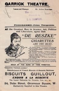 Whitewashing Julia Violet Vanbrugh Garrick Theatre Antique 1903 Comedy Programme