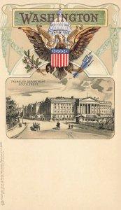 Washington DC Treasury Department South Front Embossed Raphael Tuck Postcard