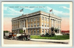 Brownsville Texas~Cameron County Court House~Maxwell House Coffee~1920 Cars