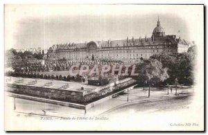 Old Postcard Paris Facade of the Hotel des Invalides