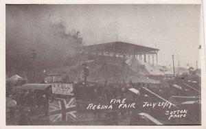 RP, REGINA , Saskatchewan, Canada, Fire, Regina Fair, July 25, 1917,