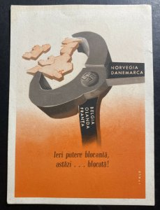 Mint Italy Advertising Postcard Yesterday Blocking Power today blocked