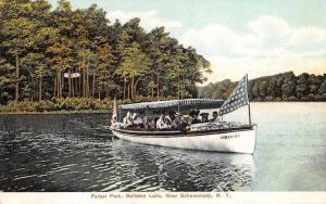 Schenectady New York Forest Park Ballston Lake Ship Postcard JE228260
