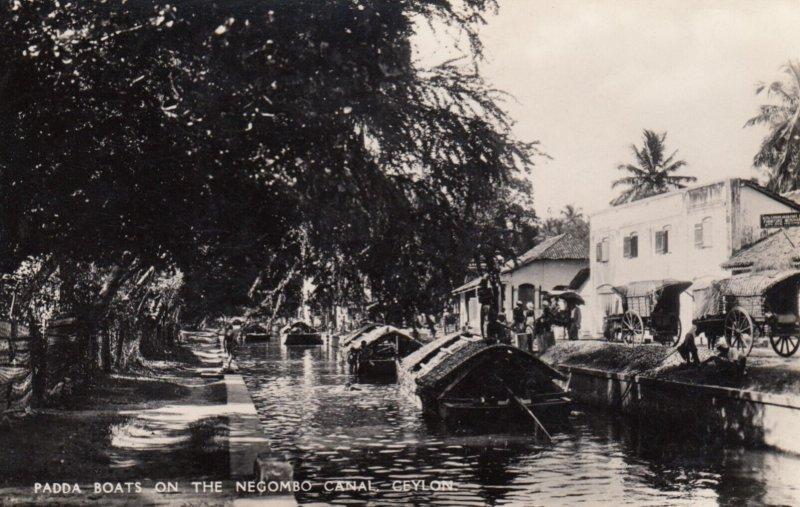 RP: Paddle Boats , Negombo Canal , CEYLON , 1930s