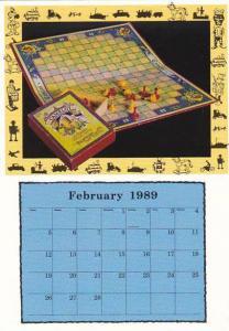 1989 Calendar Series February Camelot Board Game