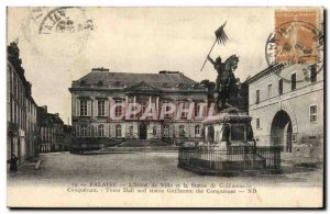 Old Postcard The Cliff & # 39Hotel City and the Statue of William the Conqueror