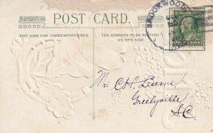 CHRISTMAS, PU-1911; XMAS With All Good Wishes, Horseshoe, Blue Flowers