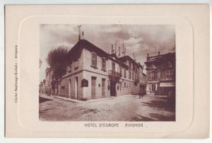 P1173 old postcard unused view Hotel d'Europe avigon france