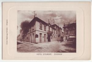 P1173 old postcard unused view Hotel d'Europe avigon france