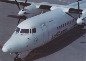 Lufthansa Fokker 50 Airplane , PU-1995