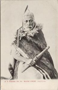 FT. Series Maori Chief NZ New Zealand UNUSED Gill Postcard E56