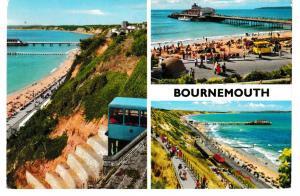 Post Card Dorset BOURNEMOUTH 3 views John Hinde 3BM92