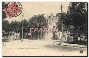 Old Postcard Bank Caisse d & # 39Epargne Narbonne