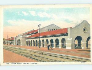 Unused W-Border UNION TRAIN DEPOT STATION Phoenix Arizona AZ G1189