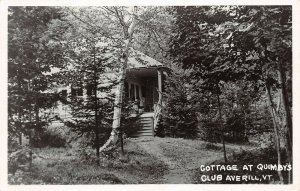 LPV25 Averill Vermont VT Postcard RPPC Cottage at Quimby's