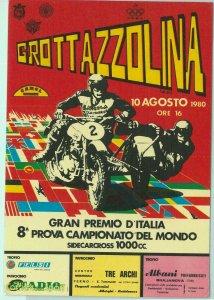 97238 - CARTOLINA d'Epoca PUBBLICITARIA -  GROTTAZZOLINA Campionato SIDECARCROSS