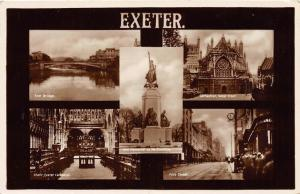 EXETER DEVON UK MULTI IMAGE REAL PHOTO POSTCARD c1920s