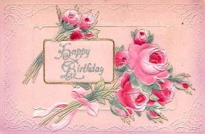 Post Card Old Vintage Antique Happy Birthday Unused
