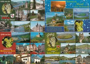 Austrian Grapes at Mosel 4x Postcard s