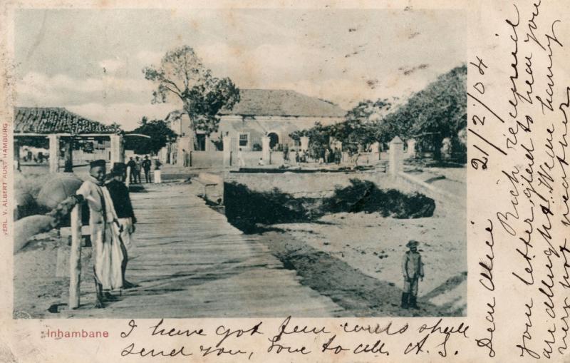 Inhambane Mozambique Antique 1904 Postcard