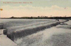 Maine Shawmut New 1000 Feet Concrete Dam