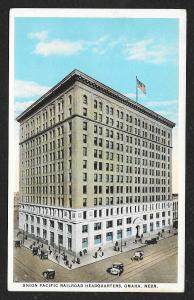 Elevated View Union Pacific Railroad Headquarters Omaha Nebraska Unused c1920s