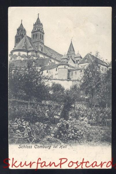 SCHLOSS COMBURG BEI HALL GERMANY ANTIQUE VINTAGE POSTCARD