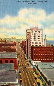 Minnesota Duluth Superior Avenue Looking East Curteich