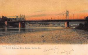 Delaware River Bridge, Easton, Pennsylvania, Early Postcard, Used in 1905
