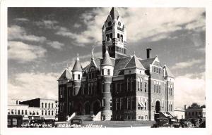 E35/ Robinson Illinois Il Photo RPPC Postcard c50s Crawford County Court House