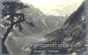 Norway, Norwegian, Norge, Norske Gudvangen Naerofjorden Real Photo