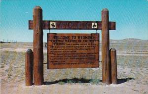 Wyoming Vacation Paradise Of The West Welcome Sign