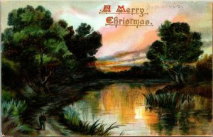 1909 TUCKS 133 Postcard - O'er Hill & Dale Series, A Merry Christmas POSTED